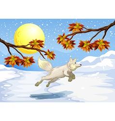 A fox jumping vector