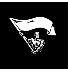 a man with a flag vector image