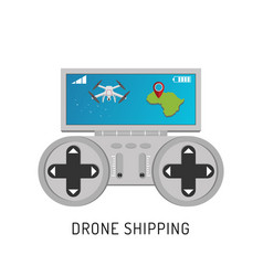 Aerial drone with a camera photographing or video vector