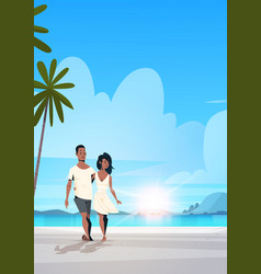 african american couple in love man woman vector image