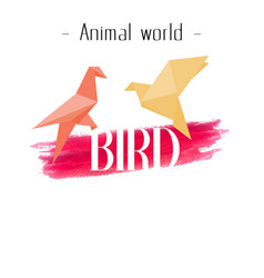 Animal world bird paper bird background ima vector