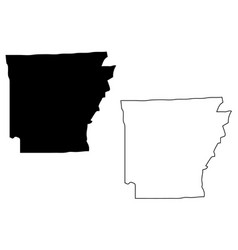 Arkansas map vector