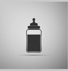 babottle icon isolated on grey background vector image