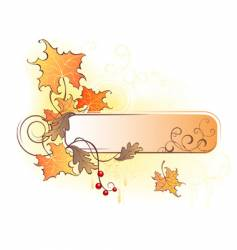Banner with the autumn leaves vector