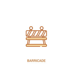 Barricade concept 2 colored icon simple line vector