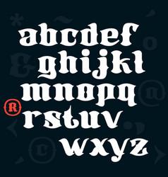 Blackletter calligraphy font vector