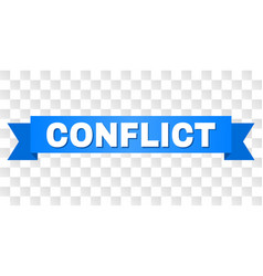 Blue stripe with conflict title vector