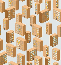 Building seamless pattern background of the city vector image
