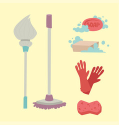 Cleanser brush chemical housework product care vector