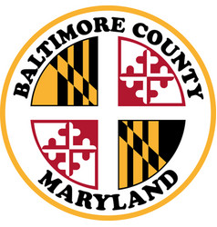 Coat arms baltimore county in maryland usa vector