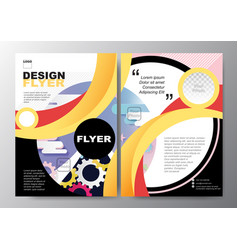 Colorful curve poster brochure flyer design layout vector