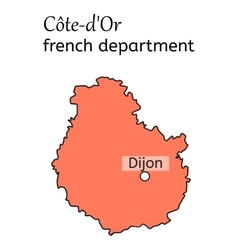 Cote-dOr french department map vector image