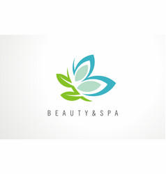 creative logo idea for beauty salon or spa vector image