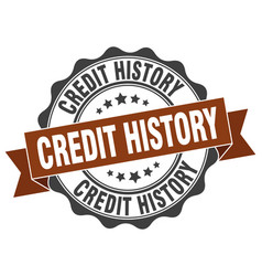 Credit history stamp sign seal vector
