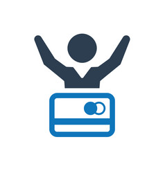 Debt relief icon vector