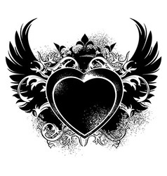 decorative form of heart vector image vector image