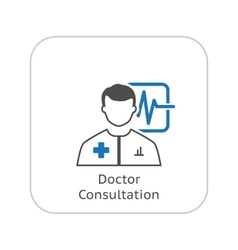 Doctor Consultation and Medical Services Icon vector