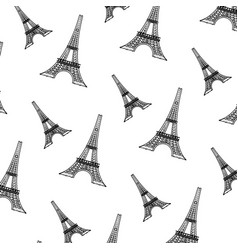 doodle eiffel tower from paris france background vector image