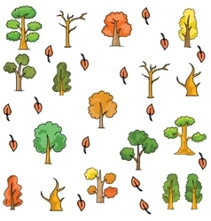 Doodle of tree different collection vector