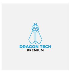 Dragon fly robot modern logo design vector