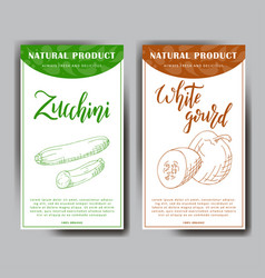 food design with vegetable hand drawn sketch of vector image