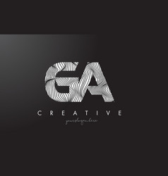 Ga g a letter logo with zebra lines texture vector