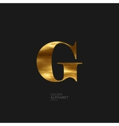 Golden letter G vector image