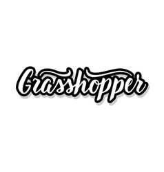 Grasshopper calligraphy template text for your vector
