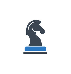 horse chess related glyph icon vector image