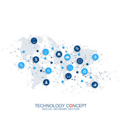 Internet things iot and network connection vector