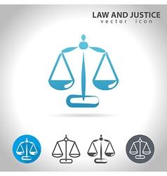 Justice blue icon vector