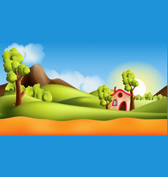 landscape cartoon seamless repeating vector image