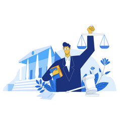 Lawyer education concept vector
