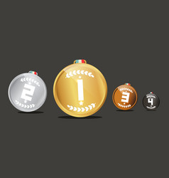 medals set awards isolated on dark background vector image vector image