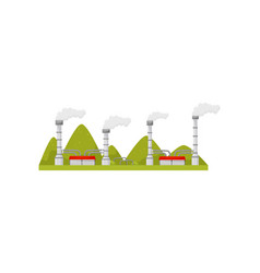 modern power station with smoking pipes energy vector image
