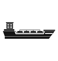 Oil tanker ship icon simple style vector image