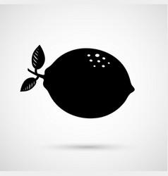 One ripe lemon in closeup vector