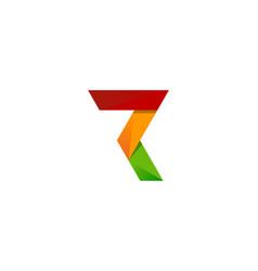 pixel letter r logo icon design vector image