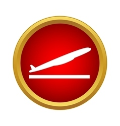 Plane takes off icon simple style vector