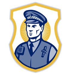 Police officer policeman security guard set i vector
