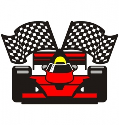 racing car vector image