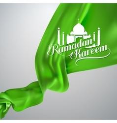 Ramadan Kareem retro label vector image