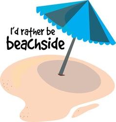 Rather be Beachside vector