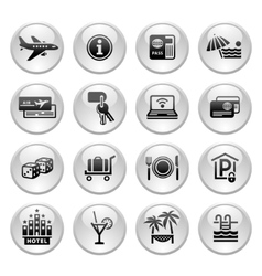 Recreation travel vacation icons set vector