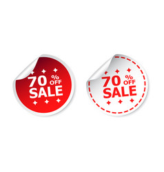 Sale sticker sale up to 70 percents business sale vector
