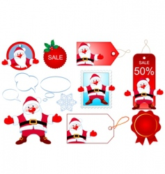 Santa design elements vector