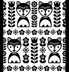 Scandinavian seamless pattern in black vector