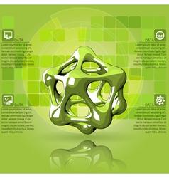 Scientific green infographics vector