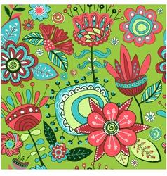 Seamless pattern Magic flowers vector