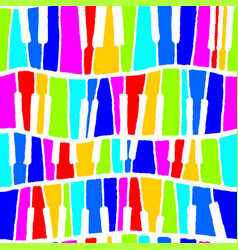 seamless piano pattern in rainbow negative vector image